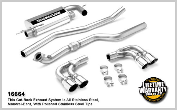 Magnaflow 16664:  Exhaust System for 2007- Saturn Sky 2.4L Duals