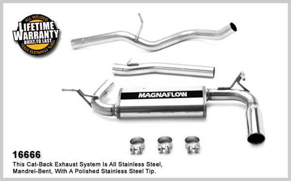 Magnaflow 16666:  Exhaust System for JEEP TRUCK WRANGLER RUBICON 2007