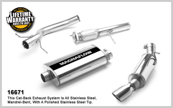 Magnaflow 16671:  Exhaust System for GM ESCALADE/YUKON DENALI 2007-08 6.2L Single Straight Rear Exit