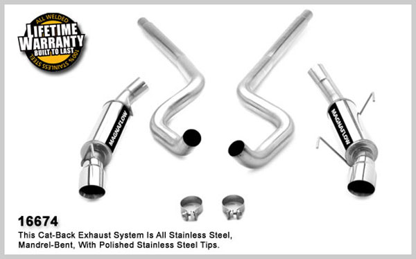 Magnaflow 16674:  Exhaust System for FORD MUSTANG V8 2005-2010
