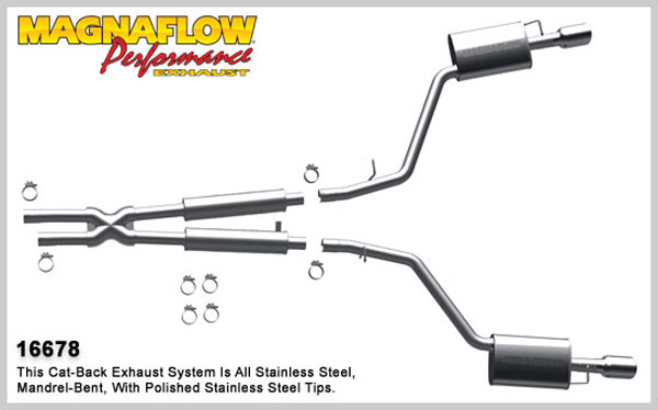 Magnaflow 16678:  Exhaust System for 2003-05 Lincoln LS