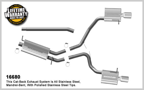 Magnaflow 16680:  Exhaust System for 2006 Audi A4 2.0T FWD