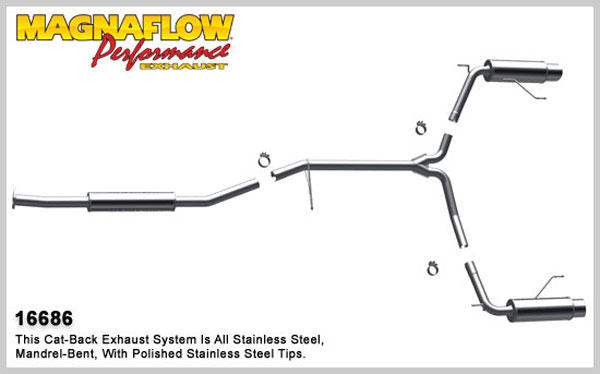 Magnaflow 16686:  Exhaust System for 2006 Honda Accord V6 coupe