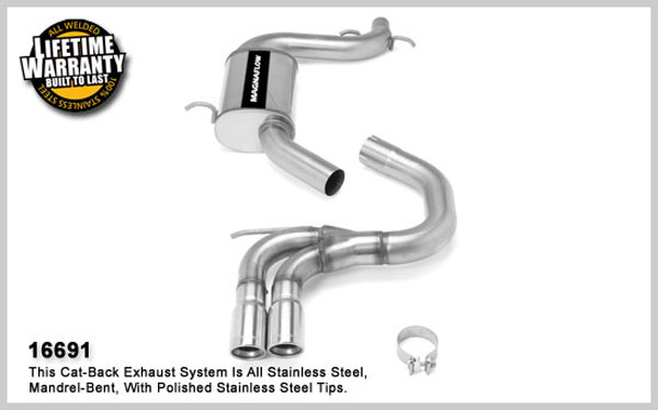 Magnaflow 16691:  Exhaust System for C / B 2006-07 VW Golf / Rabbit 2.0L Turbo