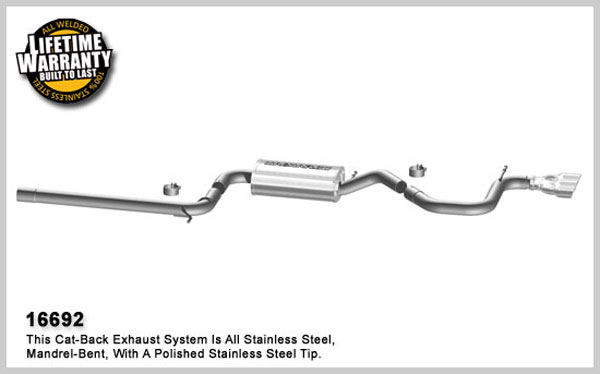 Magnaflow 16692:  Exhaust System for C / B 2006-07 VW Golf / Rabbit 2.5L