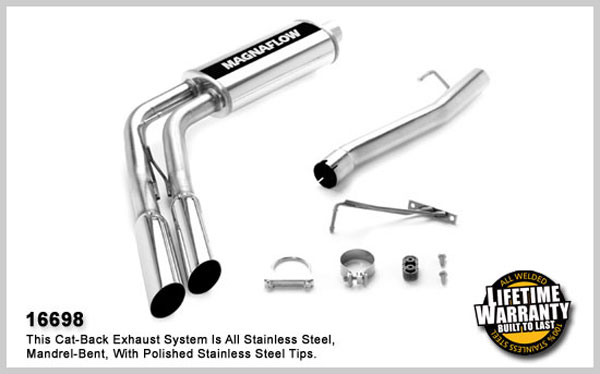 Magnaflow 16698:  Exhaust System for 2006 Dodge Ram 15 SFA 5.7L Side