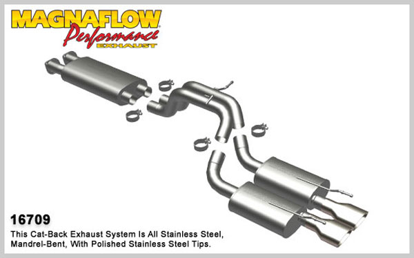 Magnaflow 16709:  Exhaust System Jeep Grand Cherokee SRT-8 2006-10 6.1L