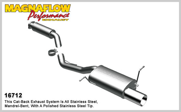 Magnaflow 16712:  Exhaust System for 1997-00 BMW Z3 2.8L I6