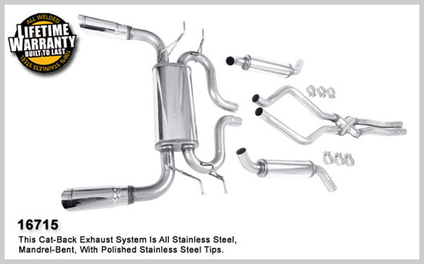 Magnaflow 16715:  Exhaust System for 2006-08 Range Rover HSE 4.4L