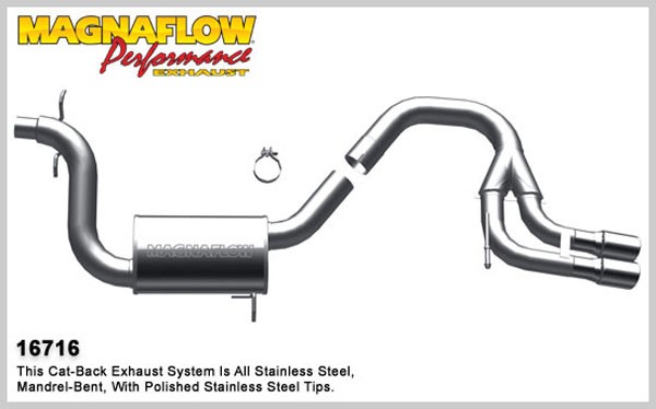 Magnaflow 16716:  Exhaust System for 2006-08 Audi A3 2.0L turbo