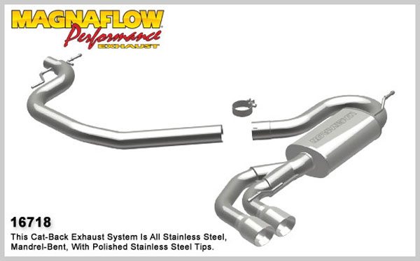 Magnaflow 16718:  Exhaust System for 2008 Audi TT 2.0L Turbo