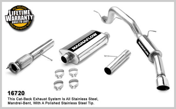 Magnaflow 16720:  Exhaust System for GM ESCALADE- ESV, EXT / YUKON DENALI XL 2007-08 Single Side Exit