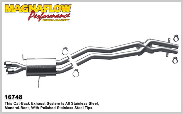 Magnaflow 16748:  Exhaust System for 2001-05 BMW 3-series 2.5 / 3.0L