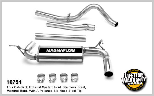 Magnaflow 16751:  Exhaust System for JEEP TRUCK WRANGLER UNLIMITED RUBICON 2007