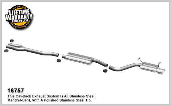 Magnaflow 16757:  Challenger Exhaust 2009-10 Dodge Challenger V6 3.5L Single Exit