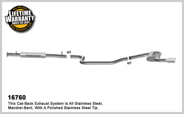 Magnaflow 16760:  Exhaust System for 2005- Pontiac G6