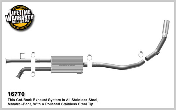 Magnaflow 16770:  Exhaust System for 2007-08 5.7 Toyota Tundra SC/SB single