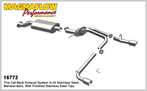 Magnaflow 16772:  Exhaust System for 2007 GM Hummer H2 Split Rear