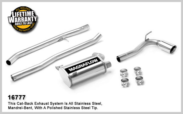 Magnaflow 16777:  Exhaust System for JEEP TRUCK COMPASS LIMITED 2007