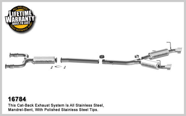 Magnaflow 16784:  Exhaust System for 2008 Nissan 350Z 3.5L V6