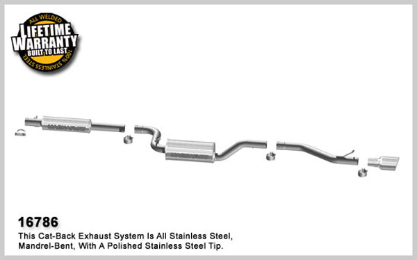 Magnaflow 16786:  Exhaust System for 2007-09 Mazda 3 2.0 / 2.3L I-4