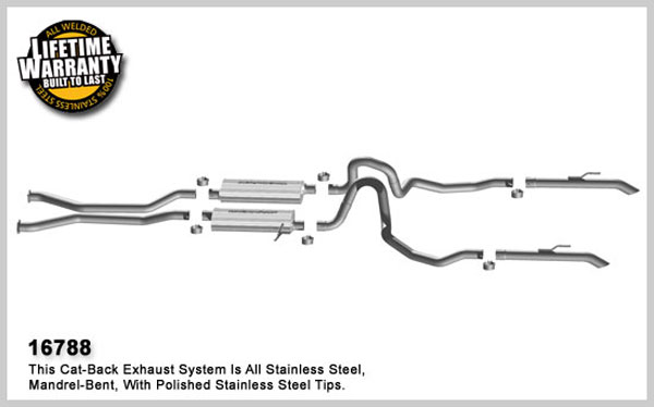 Magnaflow 16788:  Exhaust System for 2006 Ford Crown Victoria 4.6L