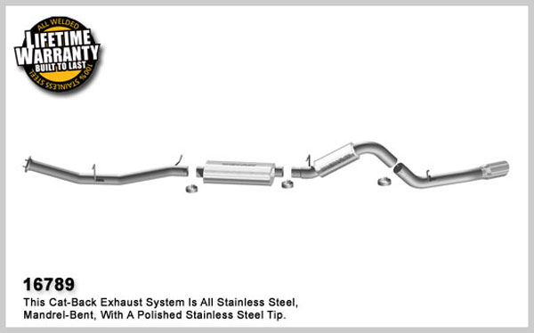 Magnaflow 16789:  Exhaust System for 2007 GM 2500 HD 6.0L Crew Cab