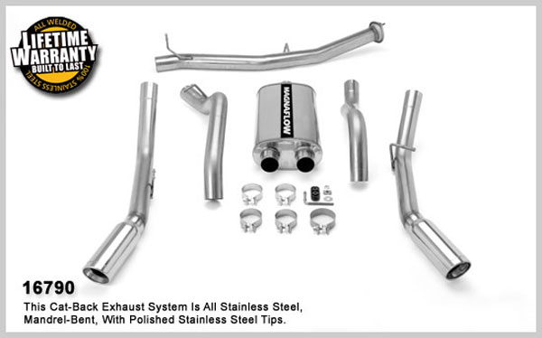 Magnaflow 16790:  Exhaust System for 2007 GM 2500 HD 6.0L CC Duals
