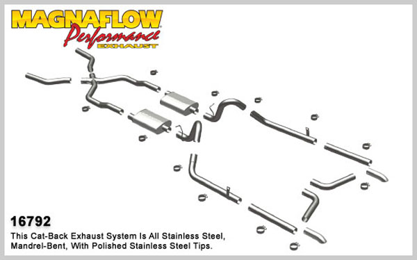 Magnaflow 16792:  Exhaust System for 55-57 Bel-Air
