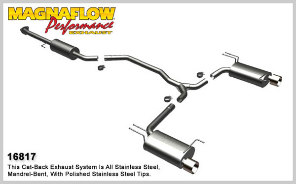Magnaflow 16817:  Exhaust System for 2008-09 Honda Accord Coupe 3.5L