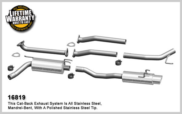 Magnaflow 16819:  Exhaust System for 2008 Honda Civic Si sedan 2.0