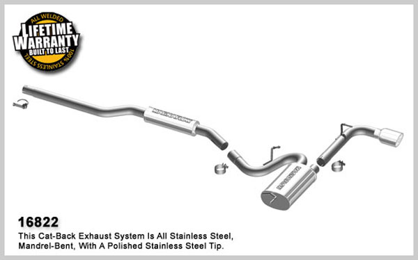 Magnaflow 16822:  Exhaust System for 2008 Mitsubishi Lancer 2.0L