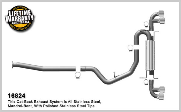 Magnaflow 16824:  Exhaust System for 2008 Su Impreza STi 2.5 Turbo