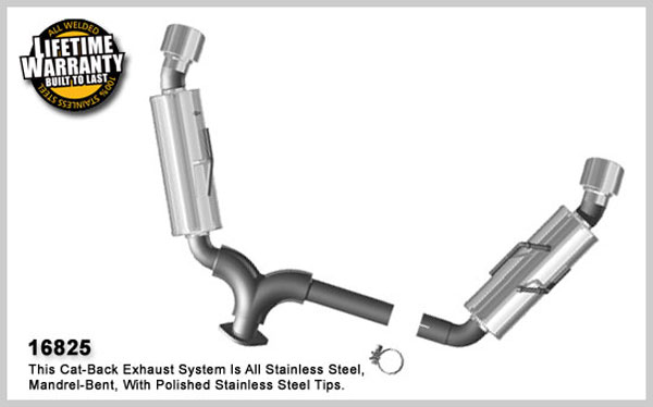 Magnaflow 16825:  Exhaust System for 2007 Nissan Altima coupe 2.5L