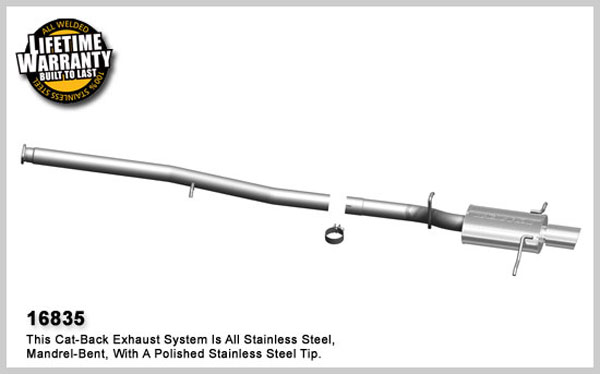 Magnaflow 16835:  Exhaust System for 2006-07 Subaru WRX 2.5L