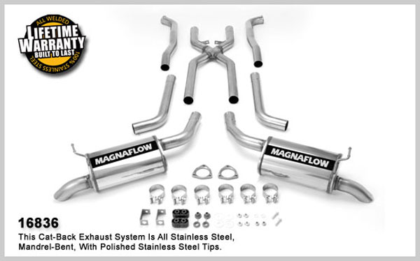 Magnaflow 16836:  Exhaust System for M/B 74 Corvette 454