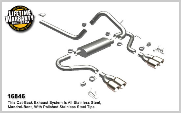Magnaflow 16846:  Exhaust System for 1998-02 Camaro 5.7 cntr-exit V8