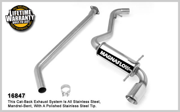 Magnaflow 16847:  Exhaust System for 2008 Su Impreza WRX 2.5 Turbo