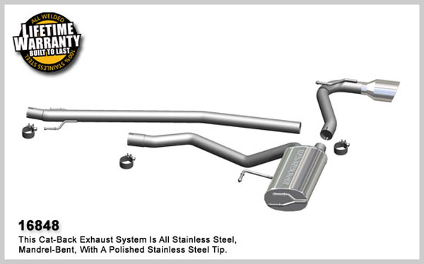 Magnaflow 16848:  Exhaust System for 2009 Toyota Matrix S 2.4L AWD