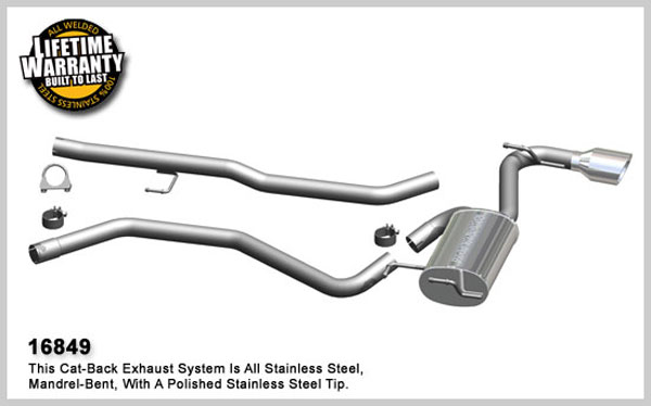 Magnaflow 16849:  Exhaust System for 2009 Toyota Matrix / Vibe 2.4L FWD