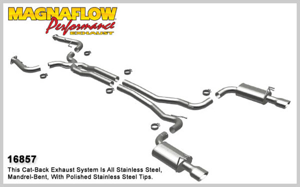 Magnaflow 16857:  Exhaust System for 2008 Pontiac G8 GT 6.0L 3 inch
