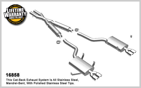 Magnaflow 16858:  Exhaust System for 2000-03 BMW M5 5.0L