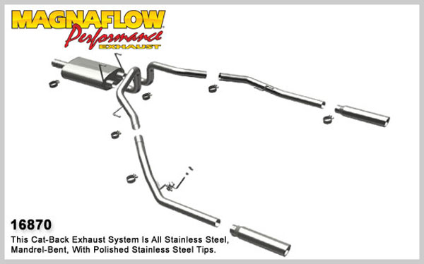 Magnaflow 16870:  Exhaust System for 2009 Dodge Ram Pickup