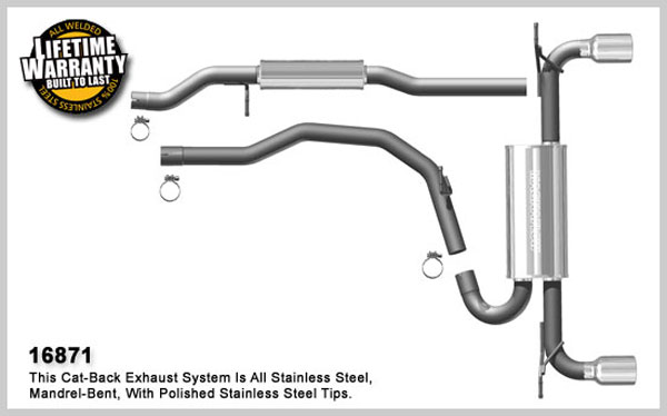 Magnaflow 16871:  Exhaust System for 2007-09 Ford Edge / MKX 3.5L FWD / AWD