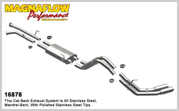 Magnaflow 16878:  Exhaust System for 2007-08 Toyota Tundra 4.7 dual same