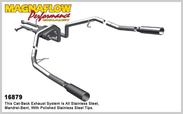 Magnaflow 16879:  Exhaust System for 2007-08 Toyota Tundra 4.7 dual split