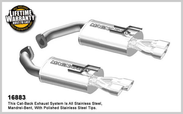 Magnaflow 16883:  Exhaust System for Pontiac G8 6.0L 2008-09 Axle-back system