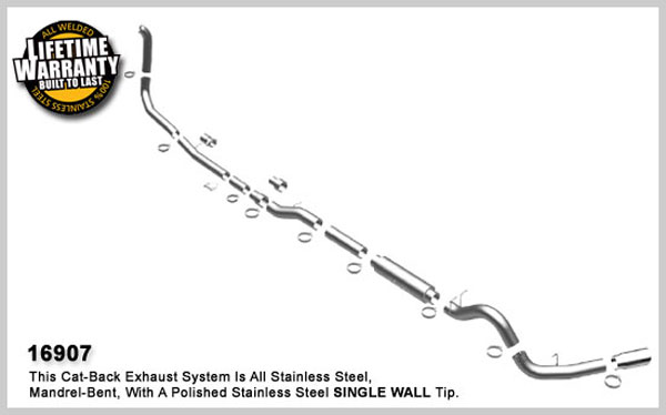 Magnaflow 16907:  Exhaust System for FORD 7.3L POWERSTROKE DIESEL, 5in SYSTEM 1999-2003