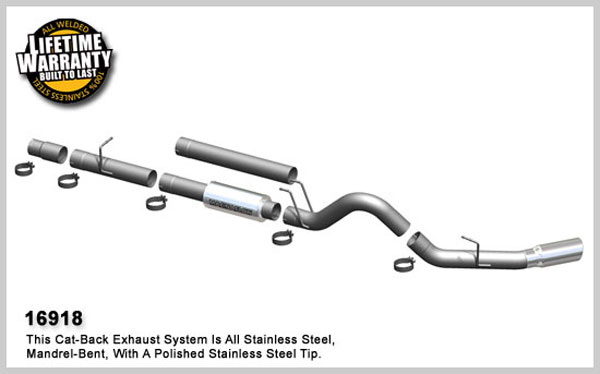 Magnaflow 16918:  Exhaust System for FORD 6.0L POWERSTROKE DIESEL, 4in. SYSTEM 2005-2007