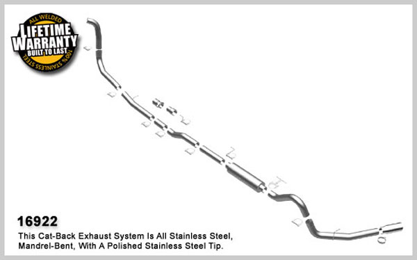 Magnaflow 16922:  Exhaust System for FORD 6.0L POWERSTROKE DIESEL, 4in. SYSTEM 2005-2007